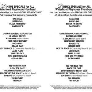 waterfront playhouse restaurant program
